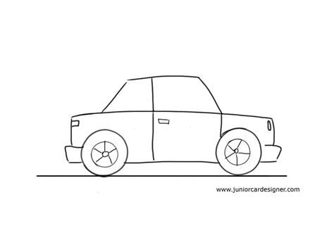 kid car drawing very easy car to draw for little kids junior car designer