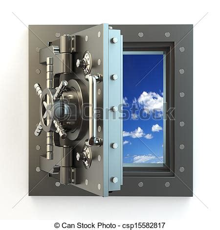 freedom opening vault door and sky royalty free stock illustration csp15582817