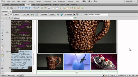 dreamweaver tutorial gallery dreamweaver picture gallery using swap image behavior