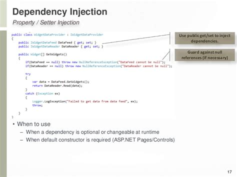 dependency injection constructor or setter i gotta dependency on dependency injection