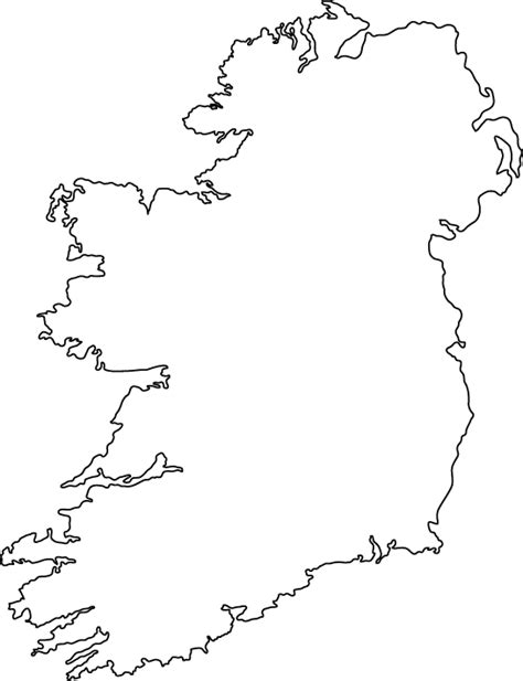 County Map Of Ireland Outline by Outline Of Ireland Map