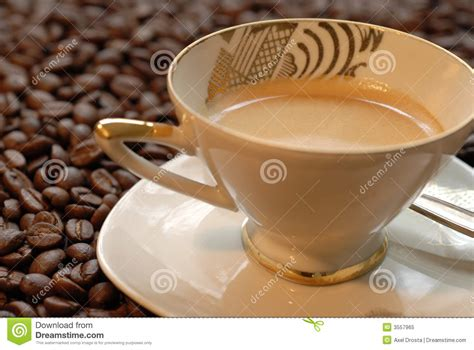 Coffee Bean Gift Card Free Drink - coffee drink on mocca beans royalty free stock photo image 3557965