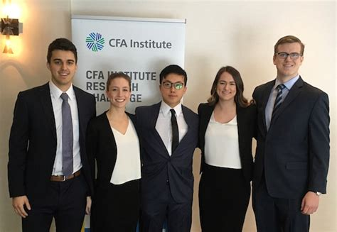Cfa Mba Program Canada by Rowe School Of Business Students Take Cfa Research Silver