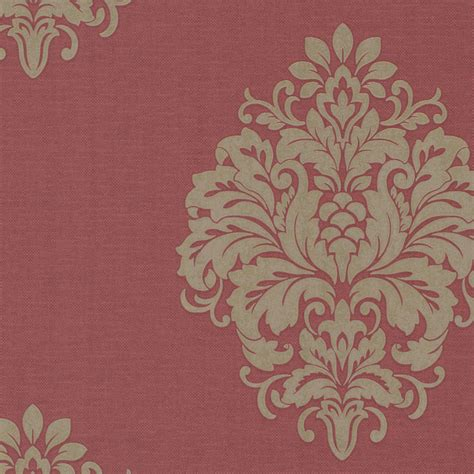 red damask wallpaper home decor duchess red damask wallpaper eclectic wallpaper by