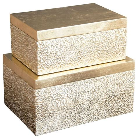 Decorative Storage Boxes by Atwater Gold Box Set Decorative Boxes