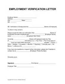 Employment Verification Letter 100 Employment Verification Form Template Exle Letter Of Employment Verification Bio