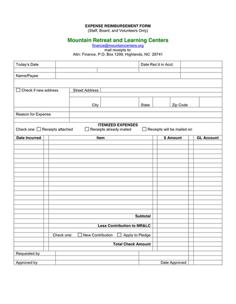 101 sle word expense reimbursement form in word and pdf