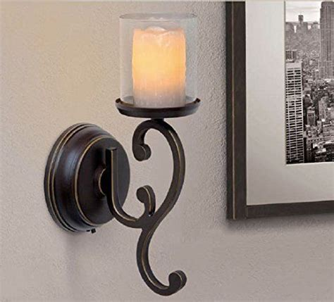Flameless Candle Wall Sconce Set 2 Candle Impressions Flameless Wall Sconces W Timer Batteries Included Set Of 2 Ebay
