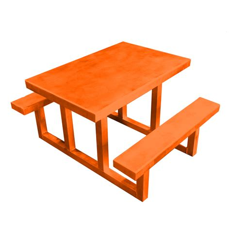 Lowes Picnic Table by Shop Ofab Orange Cast Aluminum Rectangle Picnic Table At