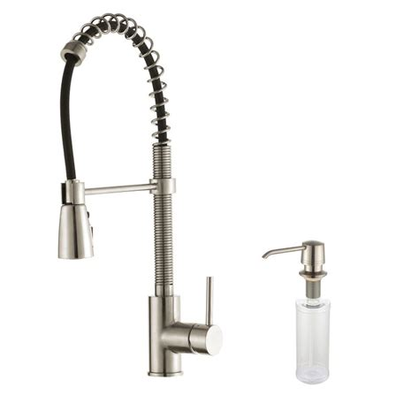 Kraus Commercial Pre Rinse Chrome Kitchen Faucet Kraus Kpf 1612 Ksd 30ch Chrome Commercial Style Pre Rinse Kitchen Faucet With Soap Dispenser