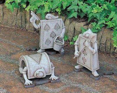 details  disney alice  wonderland garden decor