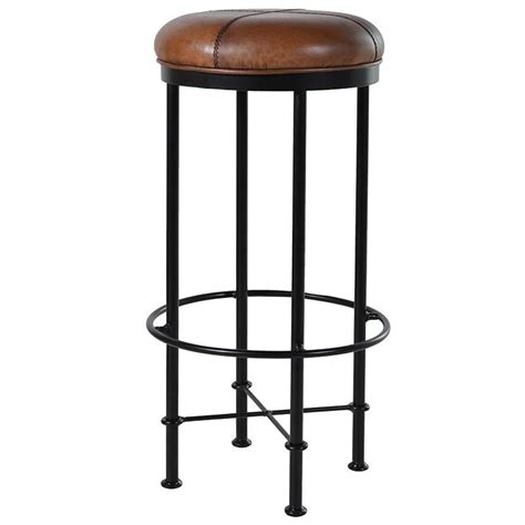 brown bar stools leather light brown leather metal bar stool mulberry moon