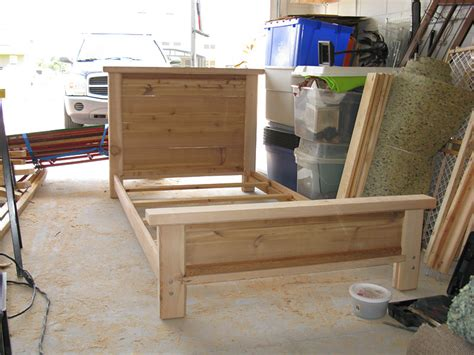 Cedar Wood Bed Frame Cedar Bed Frame By Brianarice Lumberjocks Woodworking Community