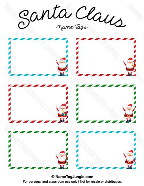 Free Santa Card Templates by Free Printable Santa Claus Name Tags The Template Can