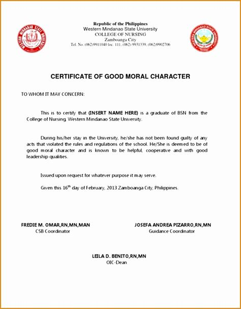 certification letter of moral character 5 certification of moral character farmer resume