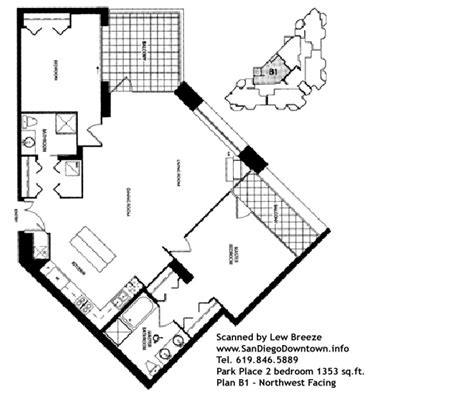 1 renaissance sq unit 17c floor plan downtown san diego condos floor plans