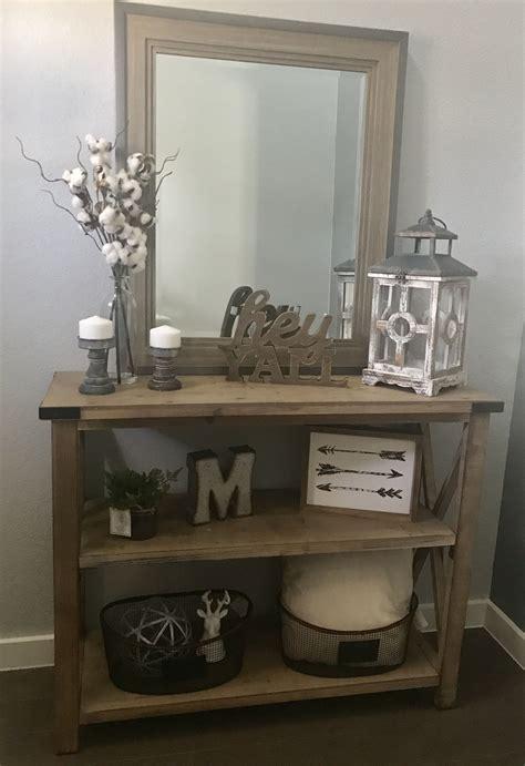 modern farmhouse entry  console table decor