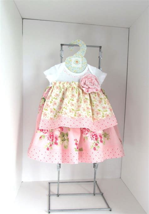 shabby chic baby dress nb by saraannas on etsy