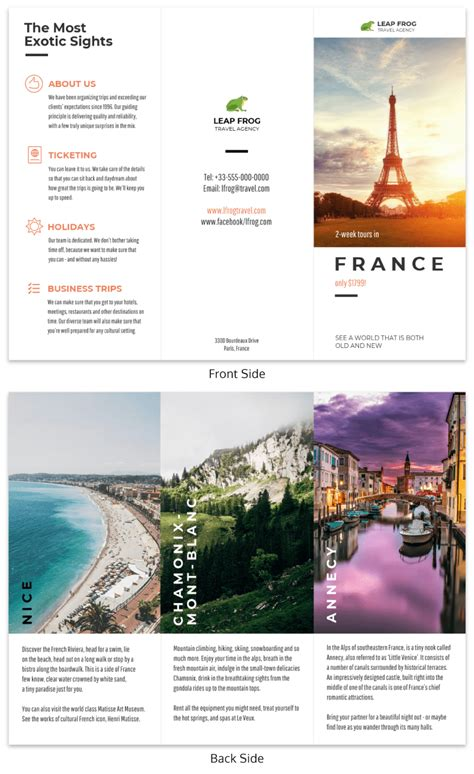 free travel brochure templates examples 8 free templates