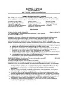 financial analyst resume exles entry level financial