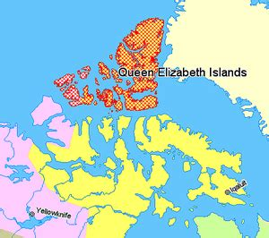 map of island canada elizabeth islands