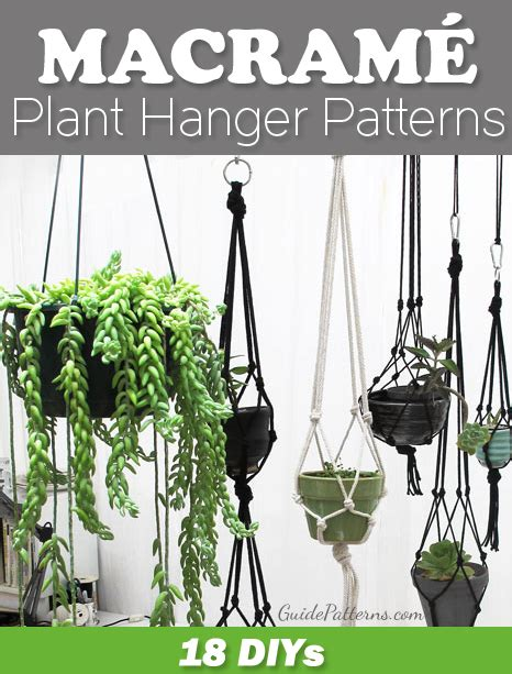 Free Macrame Plant Hanger Patterns - 18 diy macram 233 plant hanger patterns guide patterns