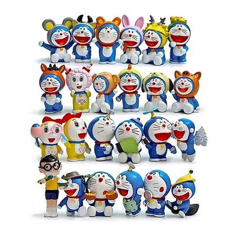 Sarina Toys Doraemon Set Figure 6 Pcs 24pcs lot doraemon figures doraemon zodiac nobita nobi dorami pvc