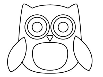 template of owl how to make a journal cover