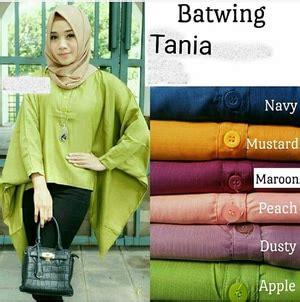 D3887 Batwing Blouse Bahan Sifon Import Baju Atasan Wanita Branded model baju atasan kalong batwing lengan panjang terbaru
