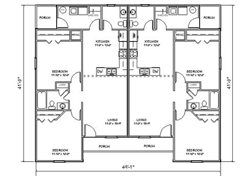 duplex floor plans free duplex house plan j918d plansource inc
