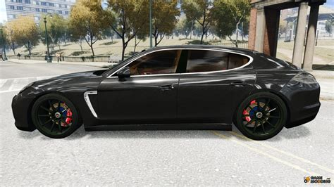 porsche panamera turbo 2010 2010 porsche panamera turbo black edition for gta 4