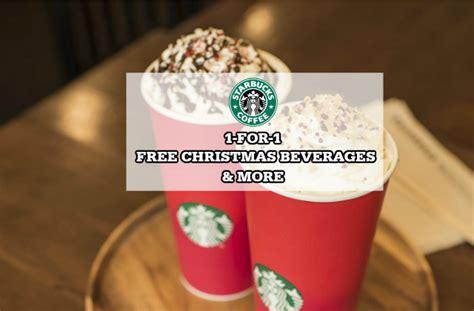 starbucks 1 for 1 free christmas drink more 30 nov