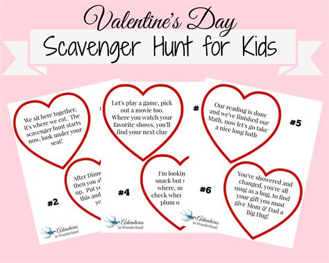 valentines day scavenger hunt clues s day scavenger hunt with printable clues a