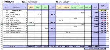 daily bookkeeping template excel book