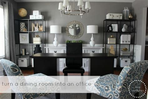 Turning My Dining Room Into An Office Duo Ventures A Dining Room To Home Office Reveal