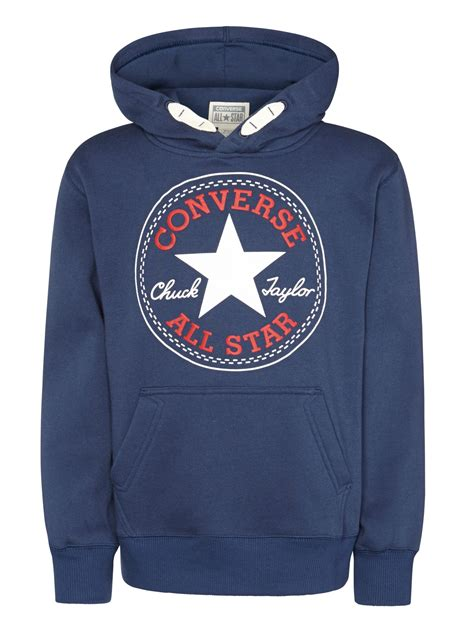 Sweater Converse converse boys pullover hoodie in blue lyst