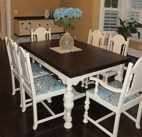 How To Stain Dining Table Dining Room Table And Chair Set In Java Gel Stain And Linen Milk Paint General Finishes Design