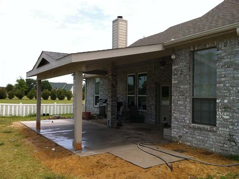 Gable Patio Roof by Painted Patio Cover Roof To Gable Caddo Mills Hundt