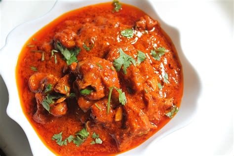 spicy indian red chicken curry recipe yummy tummy