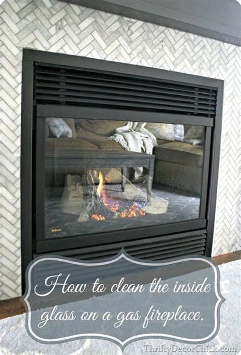 cleaning gas fireplace glass thrifty decor