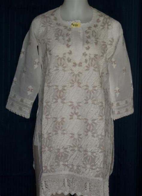 White Front Embriodery S M L Top 1 kurti white cotton embroidered tunic top kurta m l desiclik usa