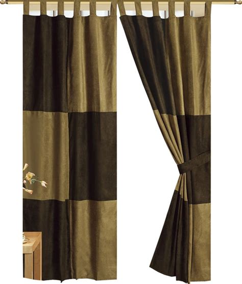 brown tab top curtains mocha brown microsuede patchwork lined tab top panel