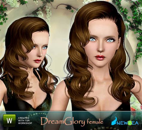 sims 3 free hairstyle downloads newsea dream glory female hairstyle