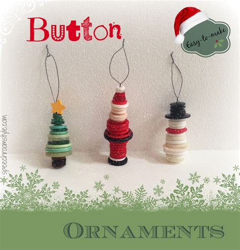 easy christmas crafts 8 button ornaments button