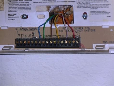how to wire a honeywell thermostat with 6 wires wiring