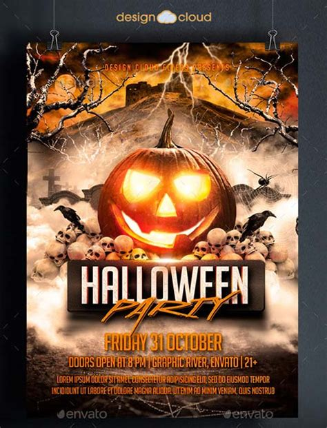 templates for halloween flyers graphicriver halloween party flyer template 8915370
