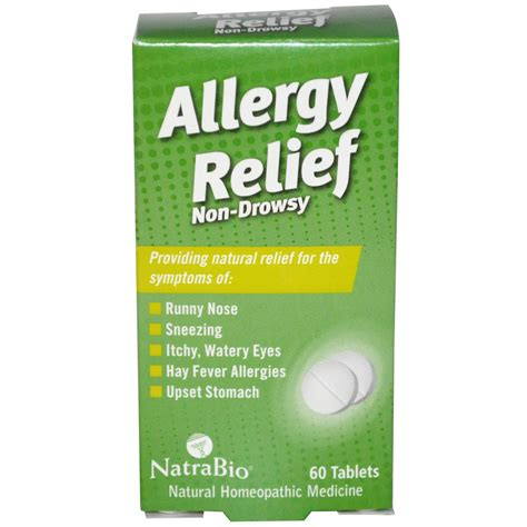 allergy remedies natrabio allergy relief non drowsy 60 tablets iherb