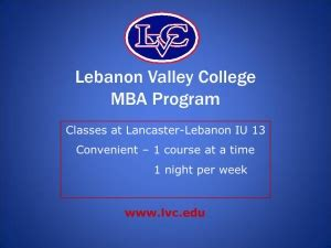 Lebanon Valley College Mba by Graduate Classes Iu13