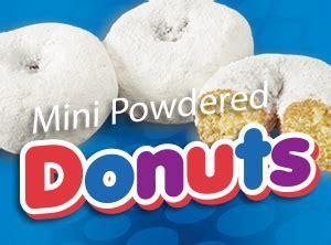 mini donuts powdered  debbie