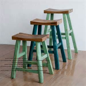 colored stool export to europe wood furniture recycled elm